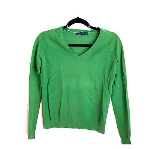 Zara Green V-Neck Sweater
